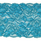 Dentelle de Calis motif fleur sea green - JOLINE
